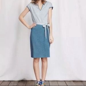 Boden Dress 16 L Thea Day Jersey Blue